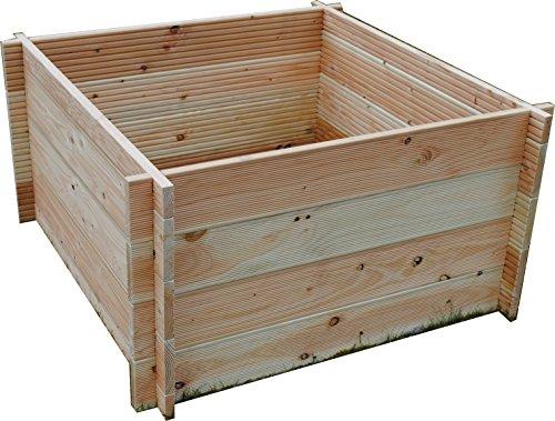 hochbeet gr n aus douglasienholz 110 x 110 x 60 cmhochbeet kaufen. Black Bedroom Furniture Sets. Home Design Ideas